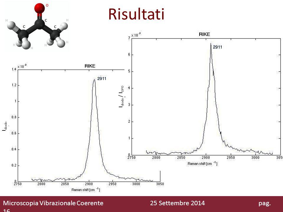 Risultati Microscopia Vibrazionale Coerente 25 Settembre 2014 pag. 16