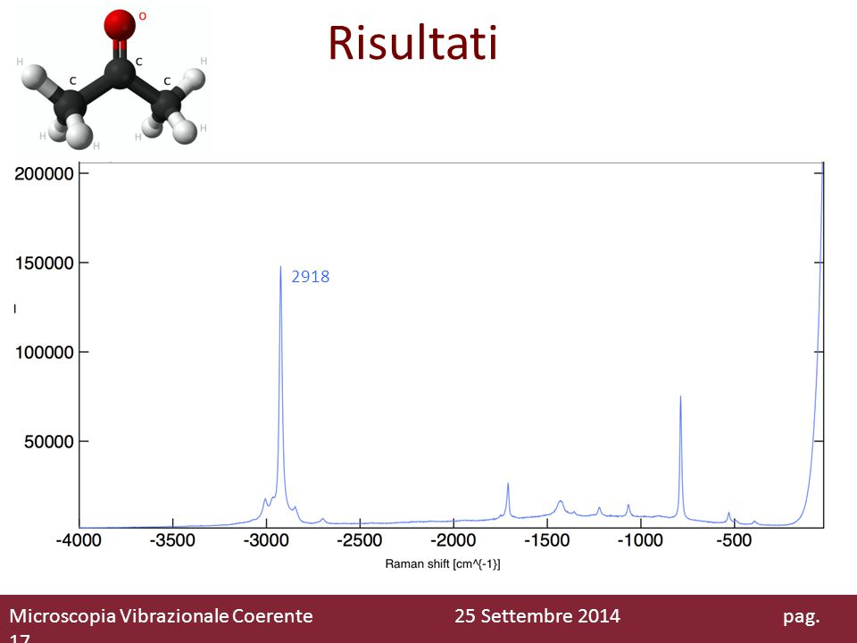 Risultati Microscopia Vibrazionale Coerente 25 Settembre 2014 pag. 17