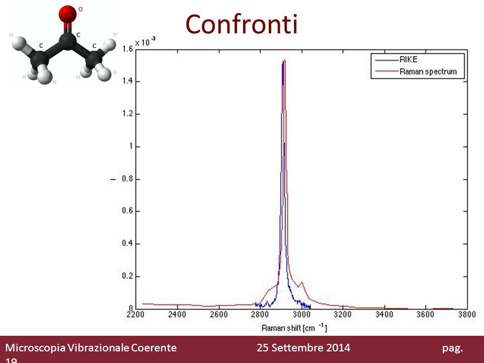 Confronti Microscopia Vibrazionale Coerente 25 Settembre 2014 pag. 19