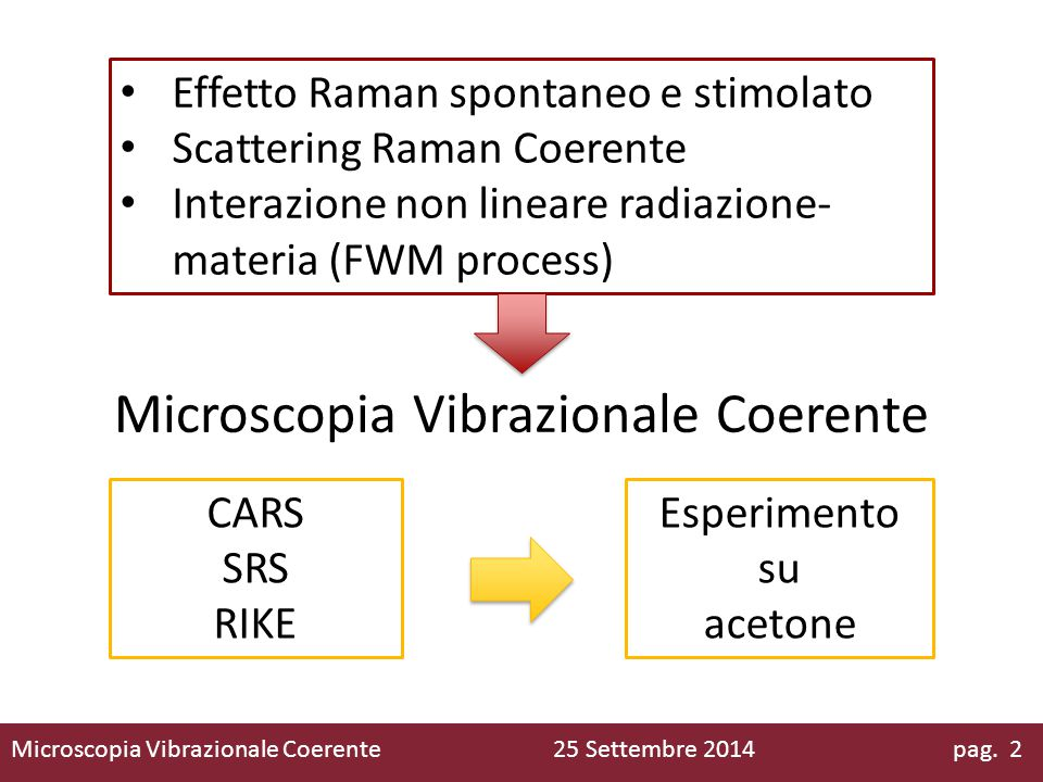 Microscopia Vibrazionale Coerente