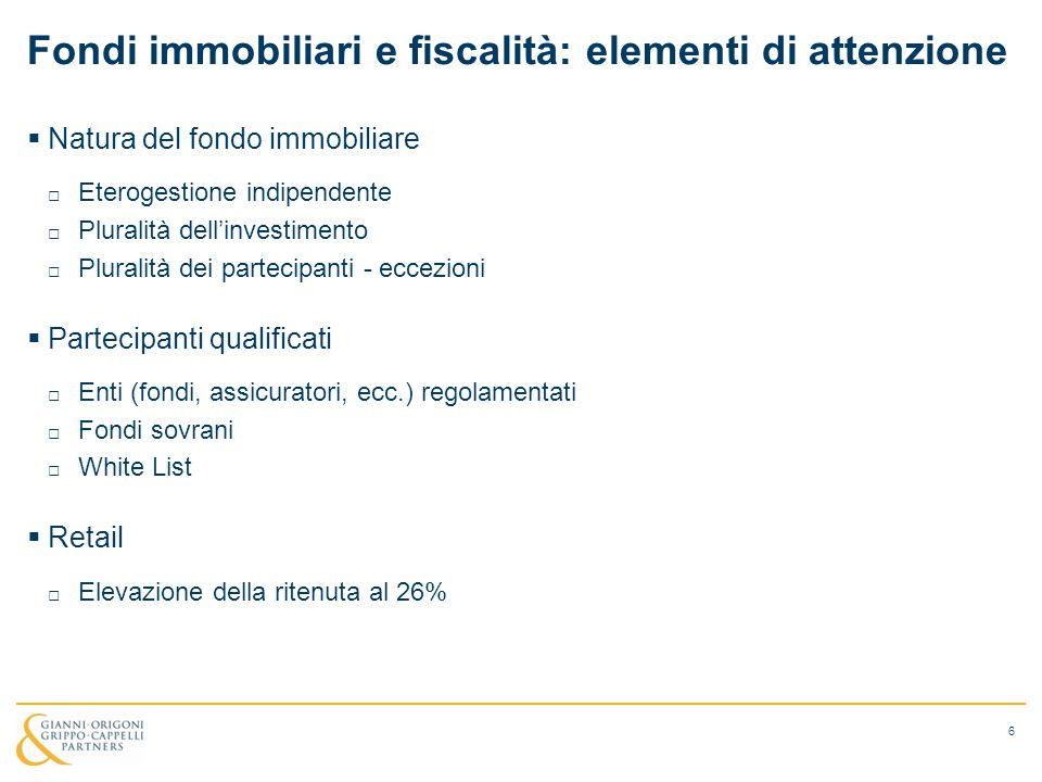 Fondi immobiliari e fiscalità: elementi di attenzione
