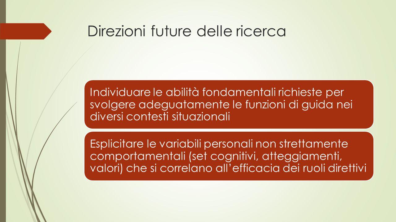 Direzioni future delle ricerca