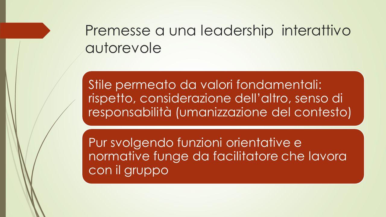 Premesse a una leadership interattivo autorevole