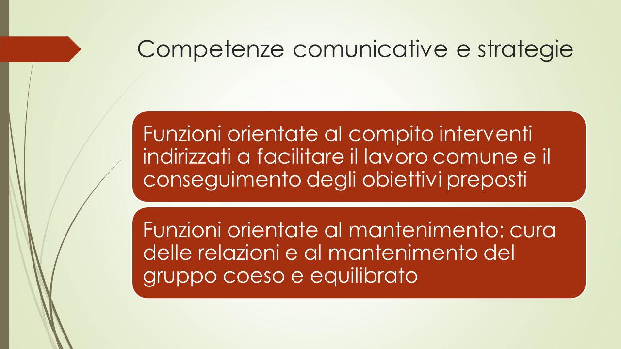 Competenze comunicative e strategie