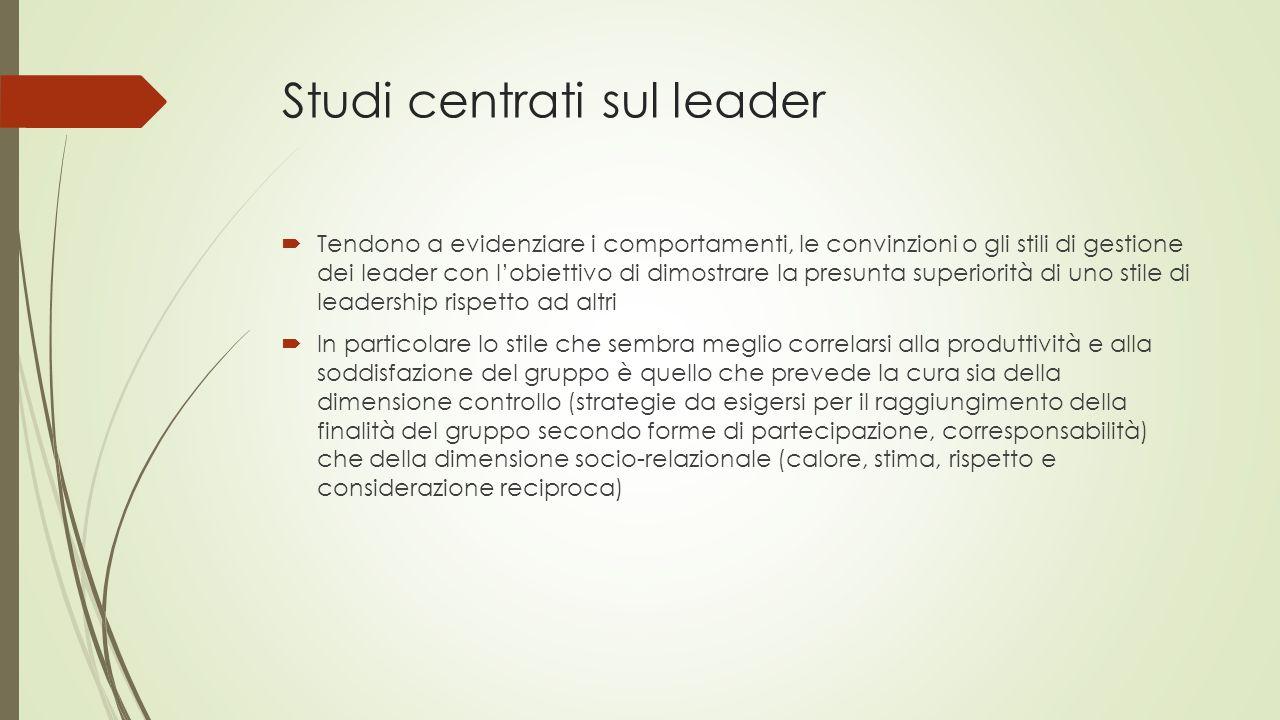 Studi centrati sul leader