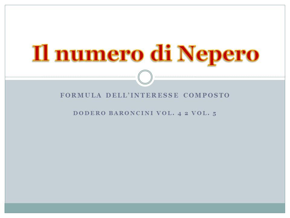 Formula dell'interesse composto Dodero Baroncini vol. 4 2 vol. 5