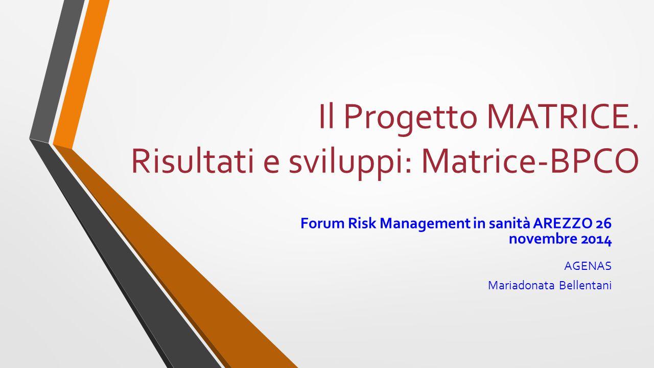 Il Progetto MATRICE. Risultati e sviluppi: Matrice-BPCO