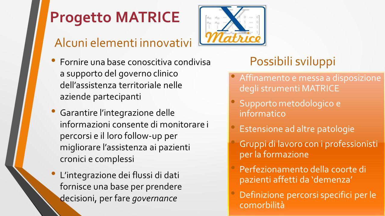 Progetto MATRICE Alcuni elementi innovativi Possibili sviluppi