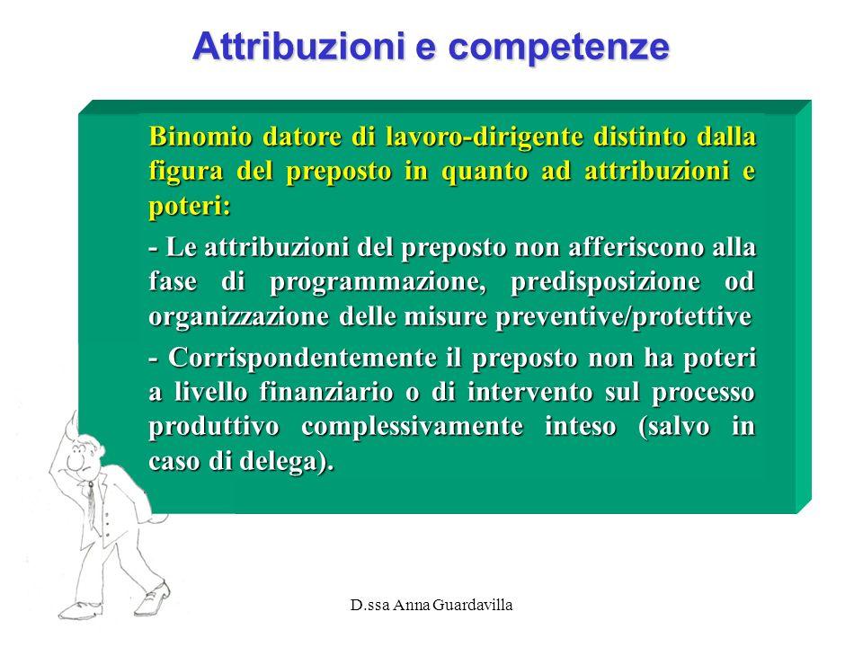 Attribuzioni e competenze