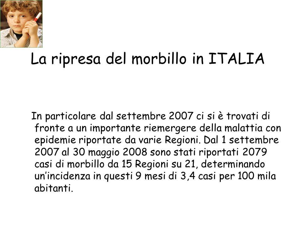 La ripresa del morbillo in ITALIA
