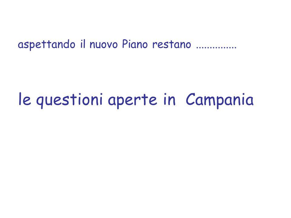 le questioni aperte in Campania
