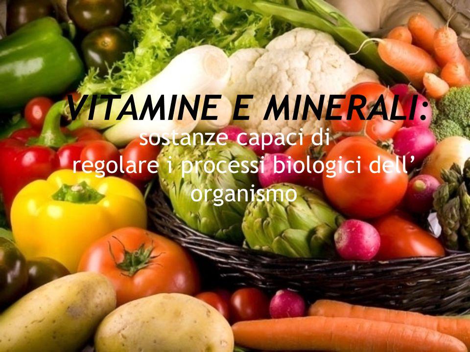 sostanze capaci di regolare i processi biologici dell' organismo