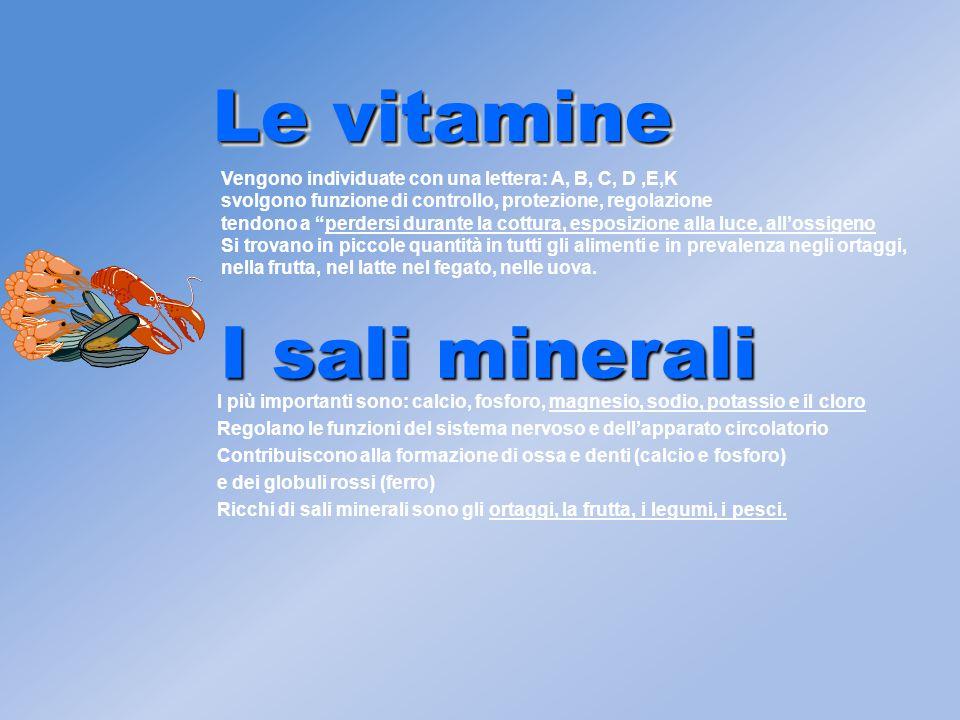 Le vitamine I sali minerali