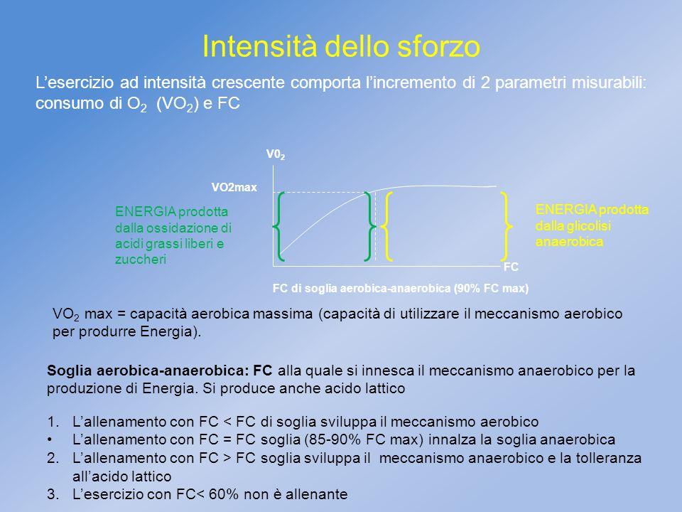 FC di soglia aerobica-anaerobica (90% FC max)