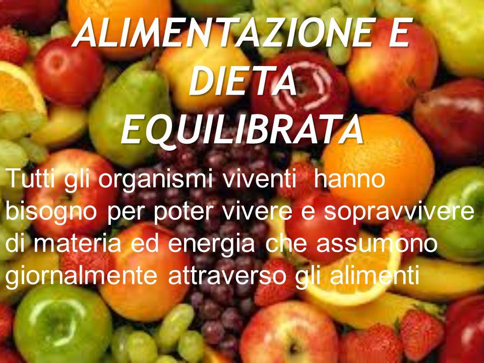 ALIMENTAZIONE E DIETA EQUILIBRATA
