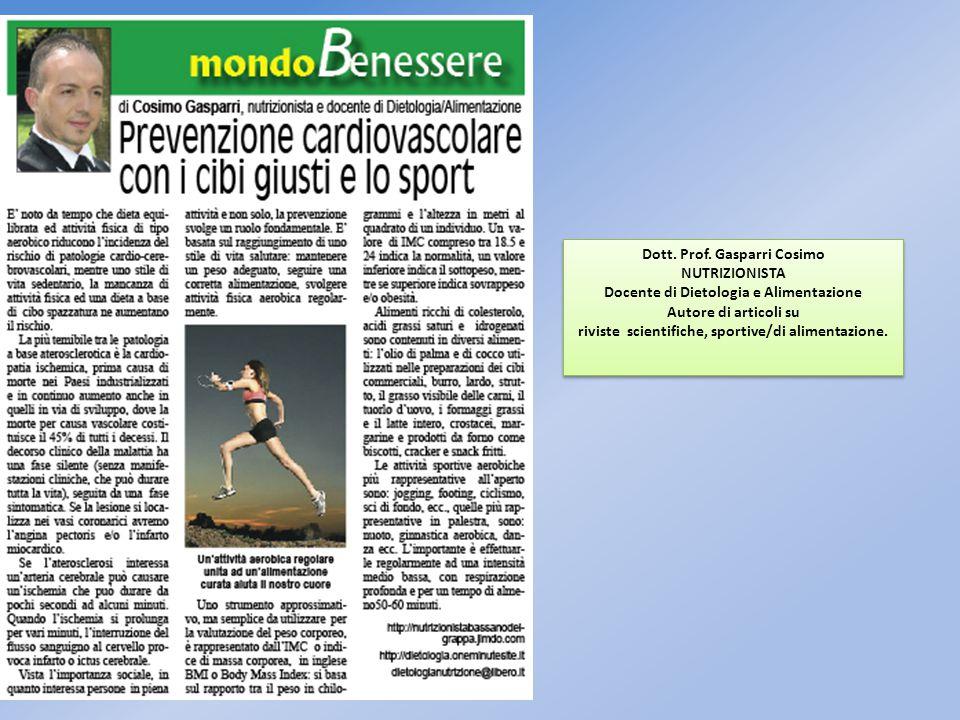 Dott. Prof. Gasparri Cosimo NUTRIZIONISTA
