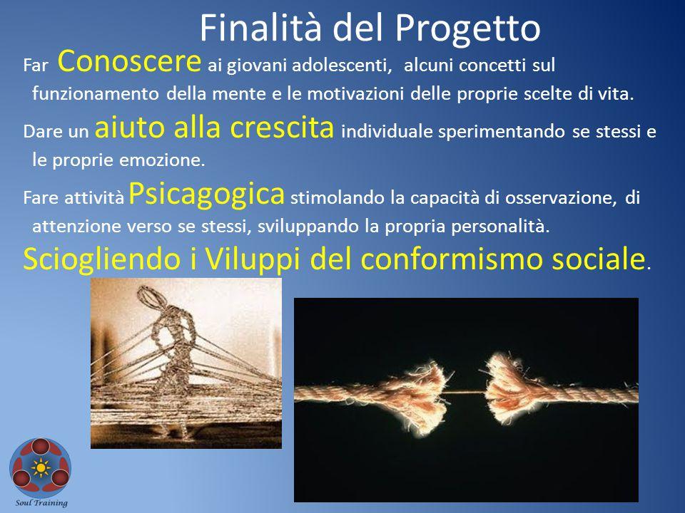 Finalità del Progetto Sciogliendo i Viluppi del conformismo sociale.