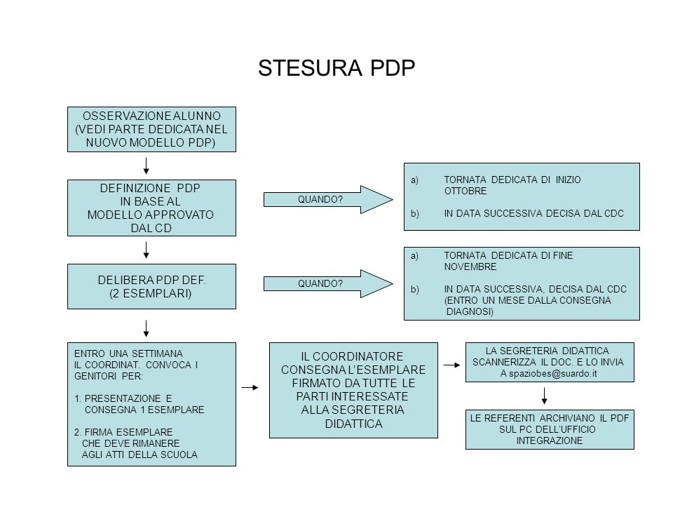 STESURA PDP OSSERVAZIONE ALUNNO (VEDI PARTE DEDICATA NEL