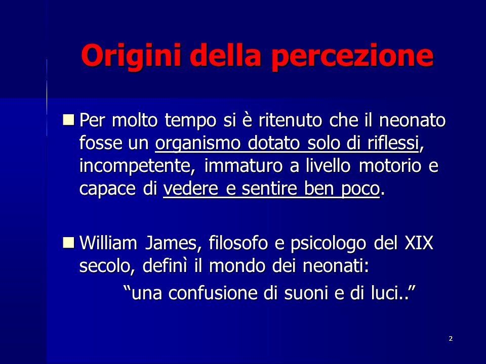 Origini della percezione