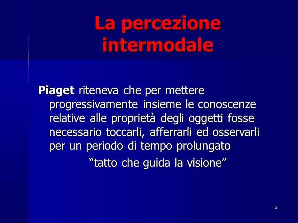 La percezione intermodale