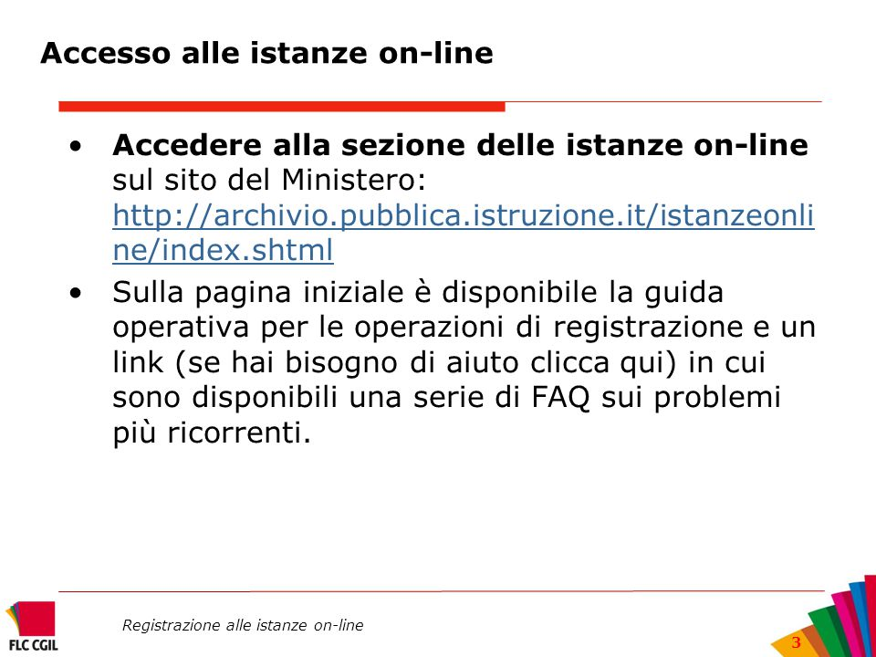 Accesso alle istanze on-line