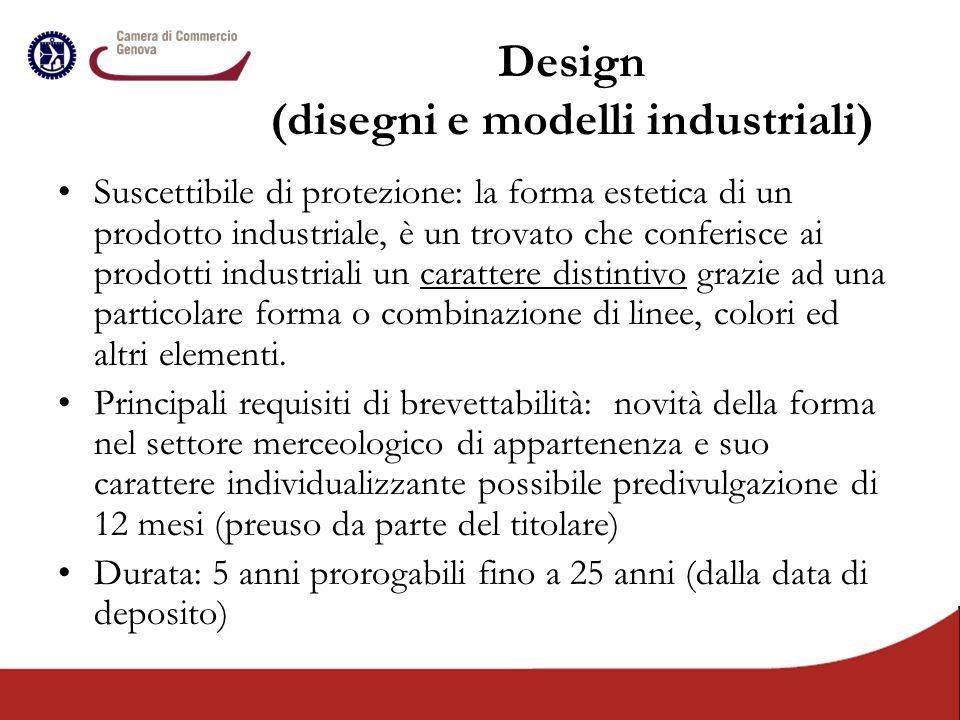 Design (disegni e modelli industriali)
