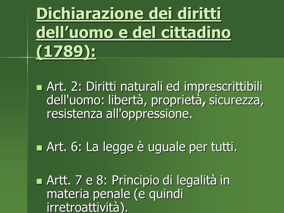 Dichiarazione dei diritti dell'uomo e del cittadino (1789):