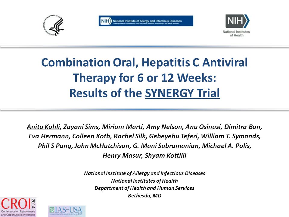Combination Oral, Hepatitis C Antiviral Therapy for 6 or 12 Weeks: