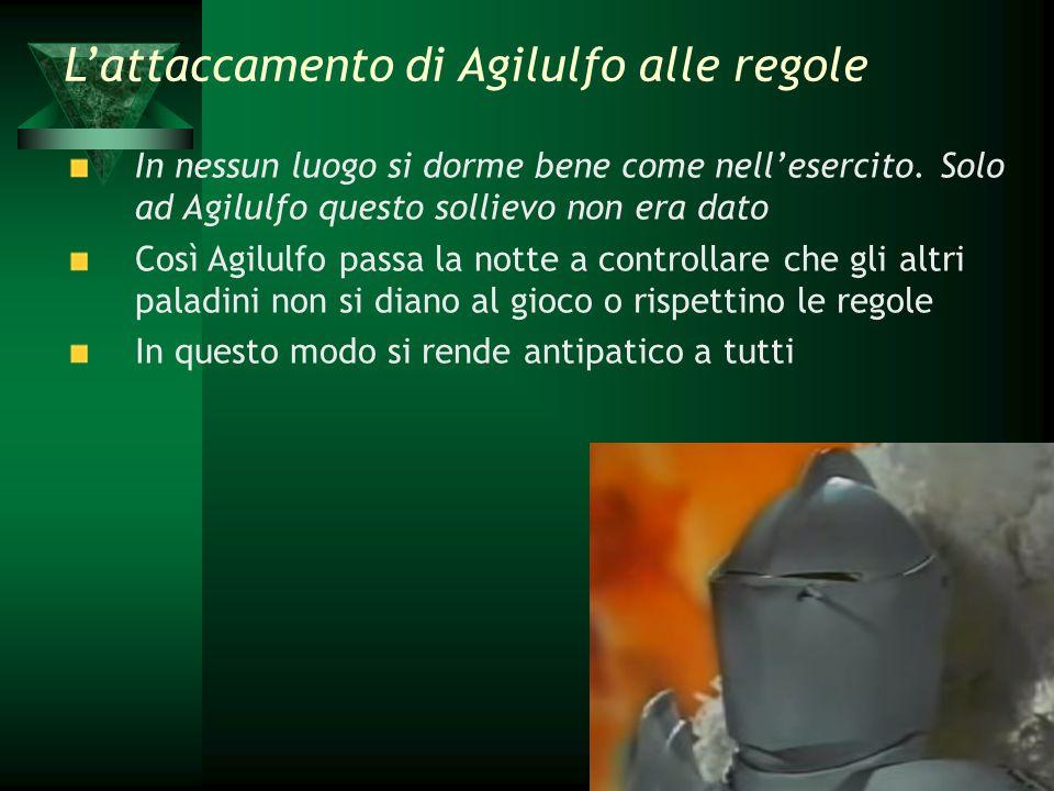 L'attaccamento di Agilulfo alle regole