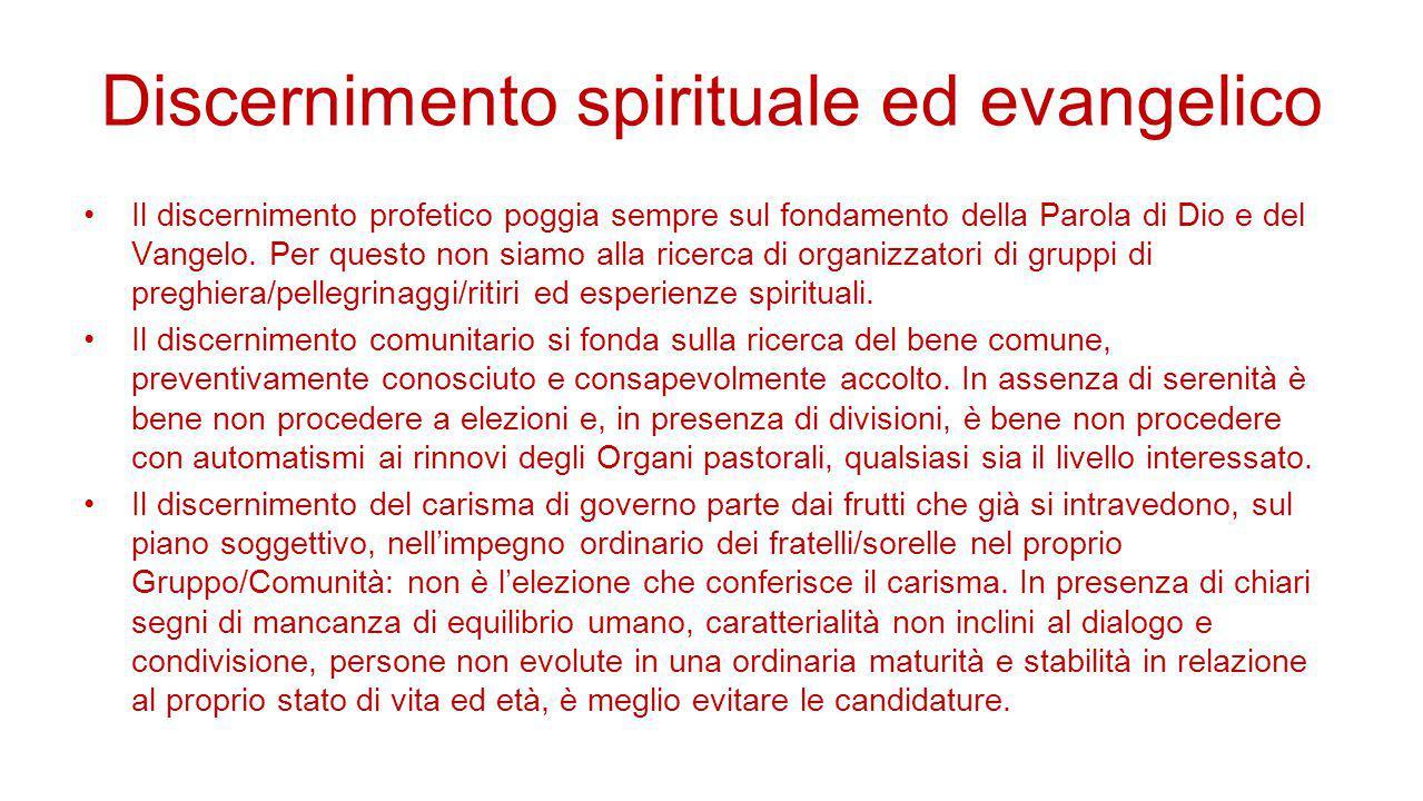 Discernimento spirituale ed evangelico