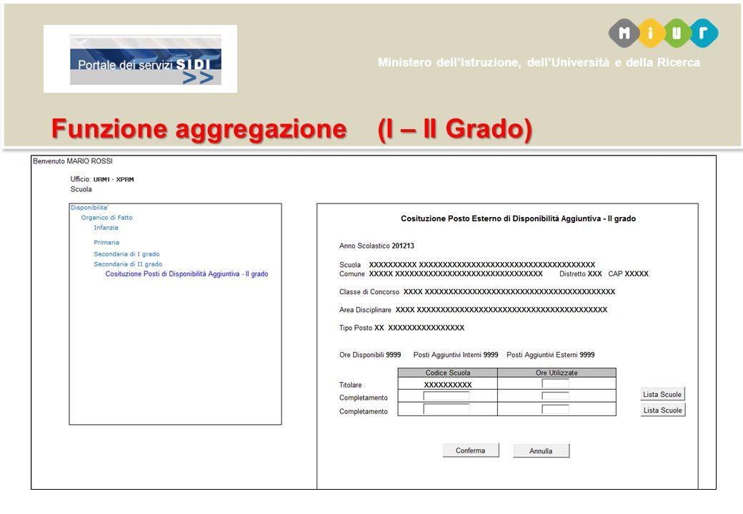 Funzione aggregazione (I – II Grado)