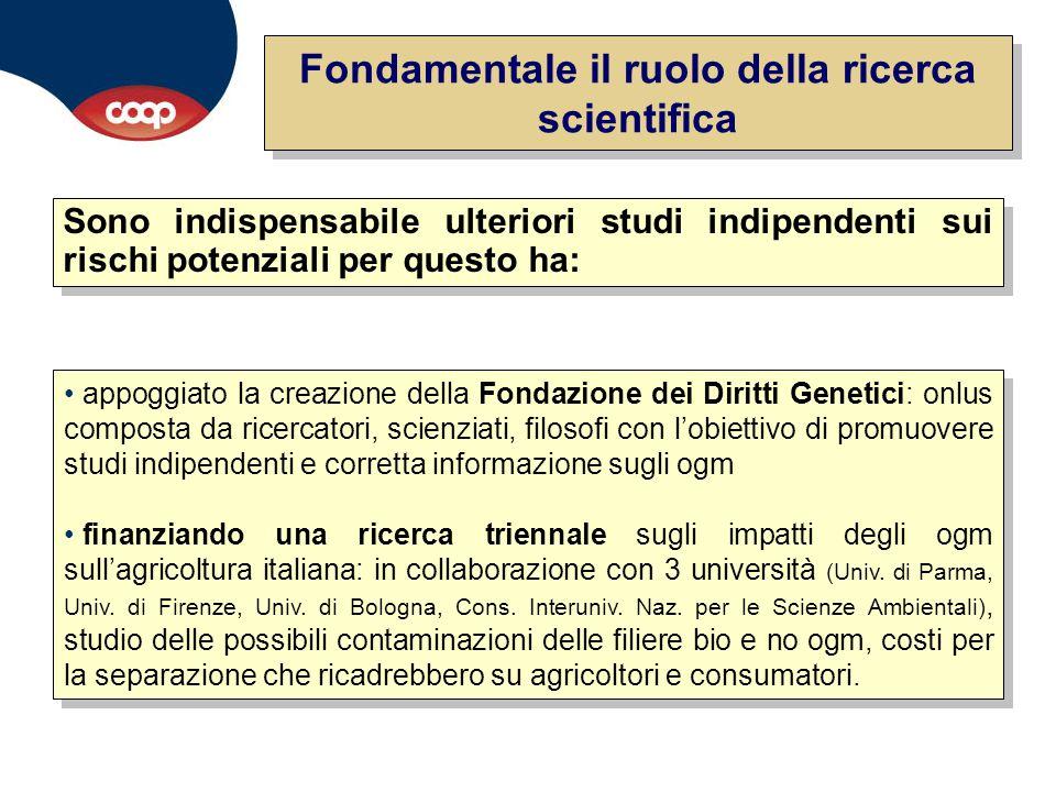 Fondamentale il ruolo della ricerca scientifica