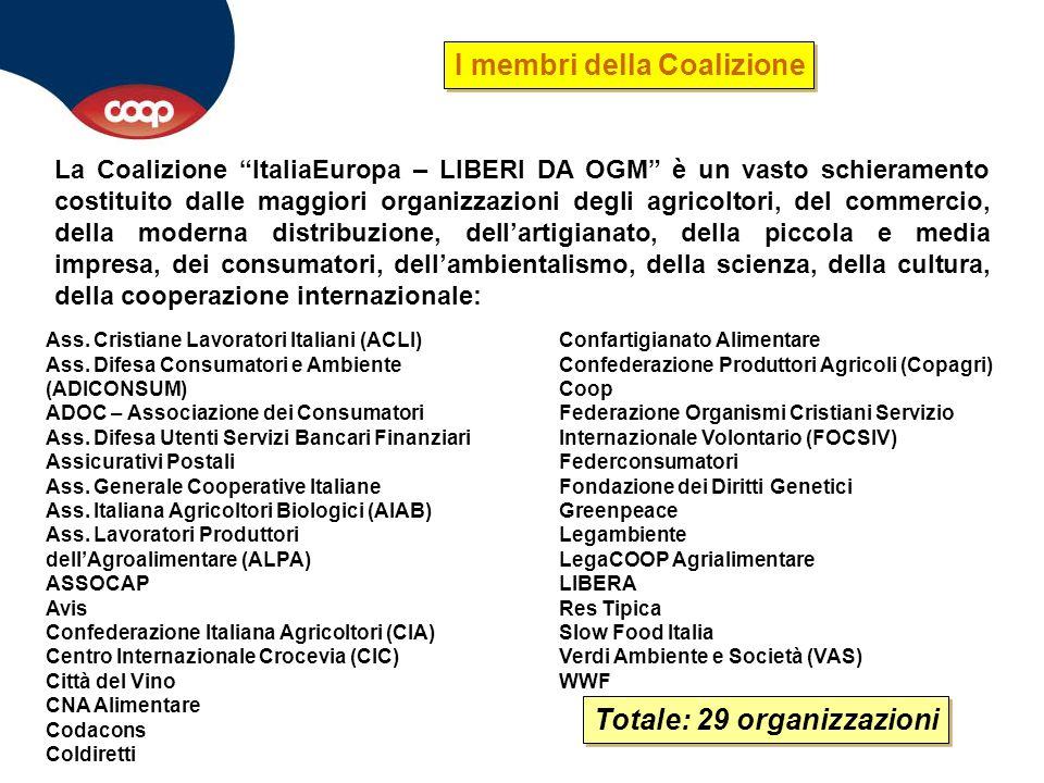 I membri della Coalizione Totale: 29 organizzazioni