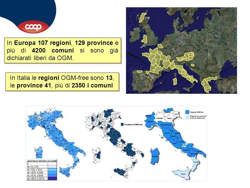 In Europa 107 regioni, 129 province e più di 4200 comuni si sono già dichiarati liberi da OGM.