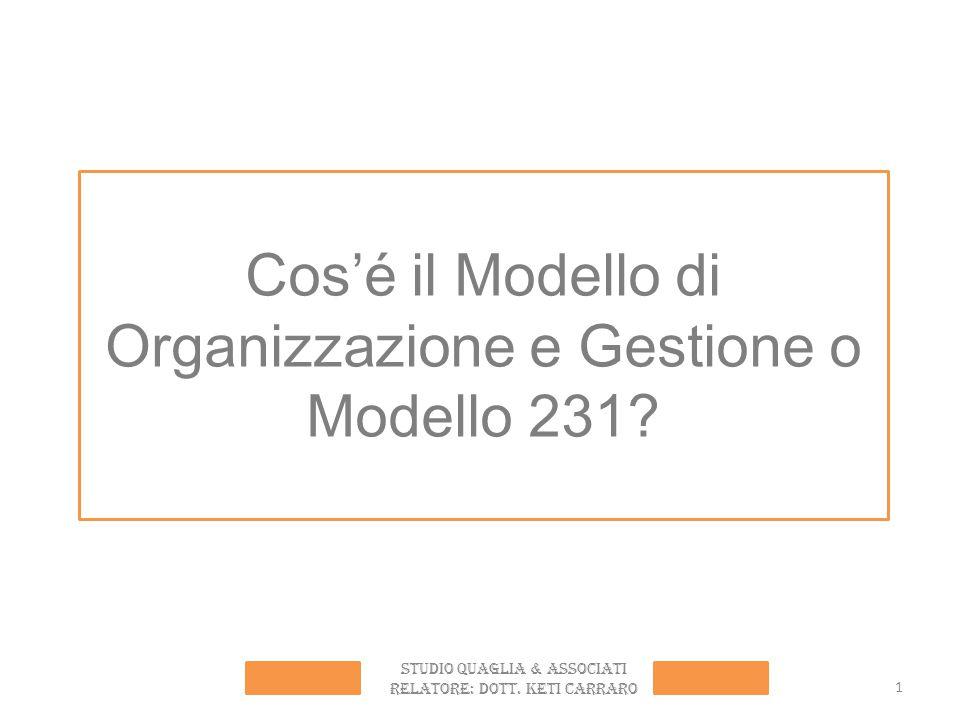Cos'é il Modello di Organizzazione e Gestione o Modello 231