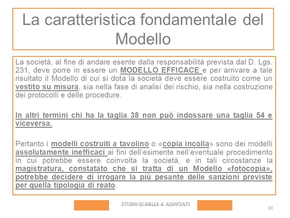 La caratteristica fondamentale del Modello