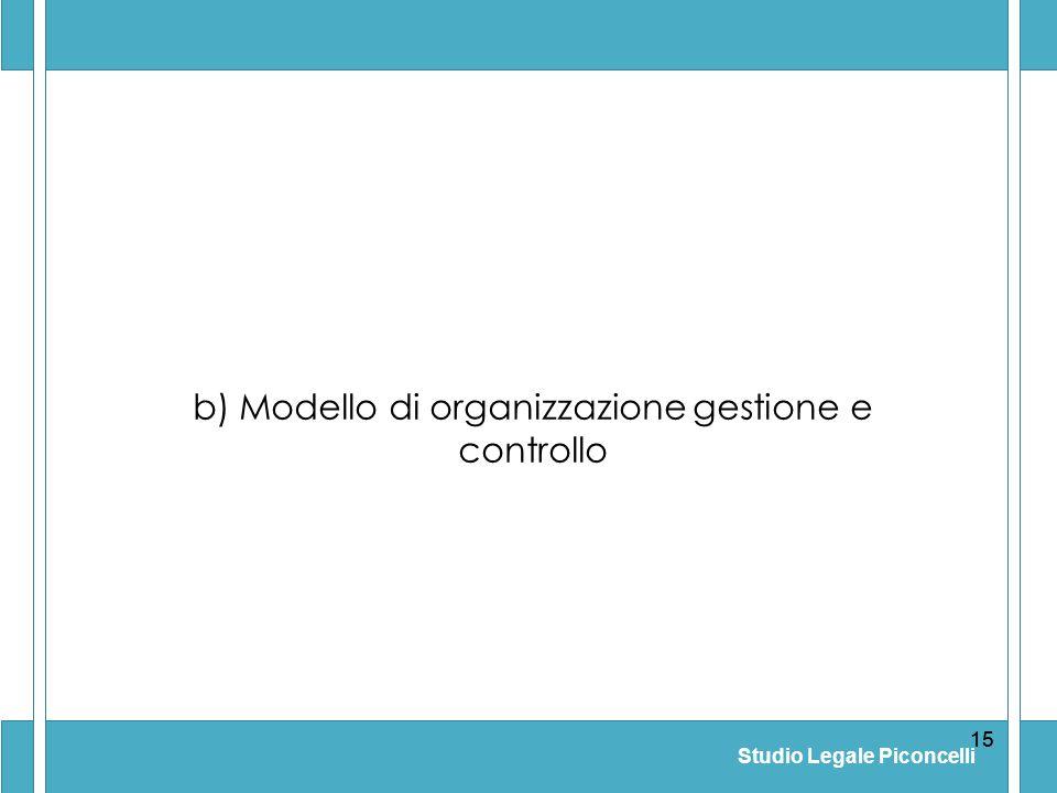 b) Modello di organizzazione gestione e controllo