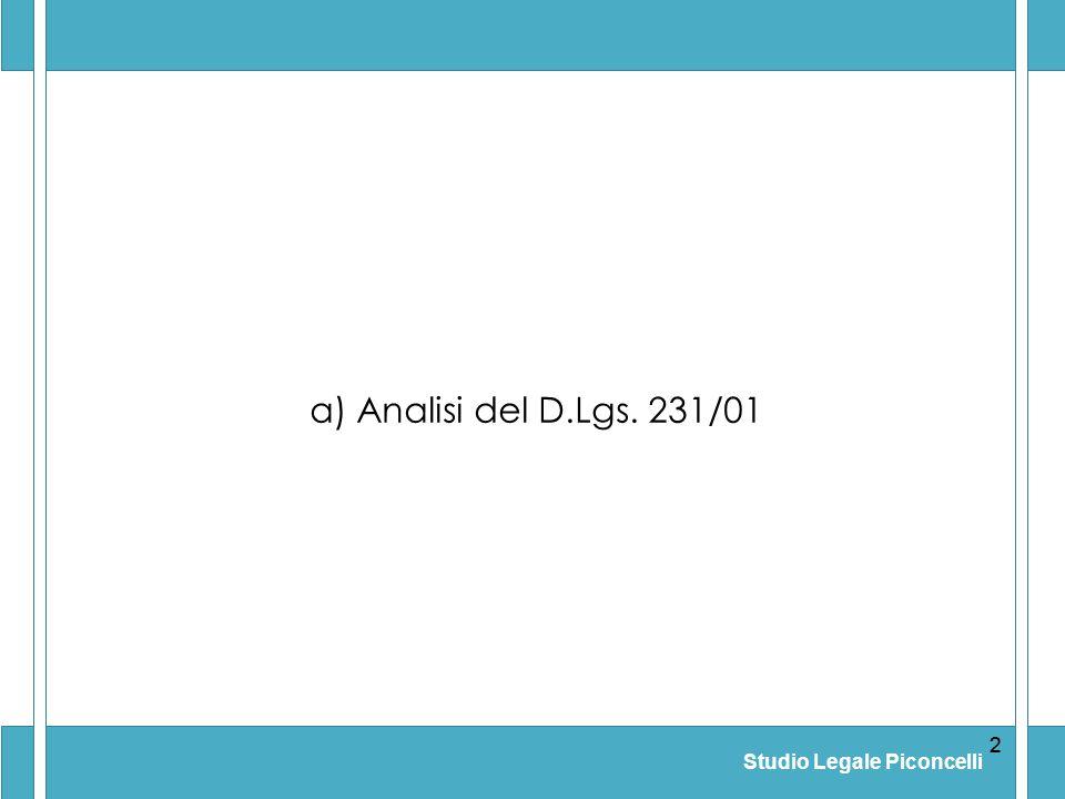 a) Analisi del D.Lgs. 231/01 2