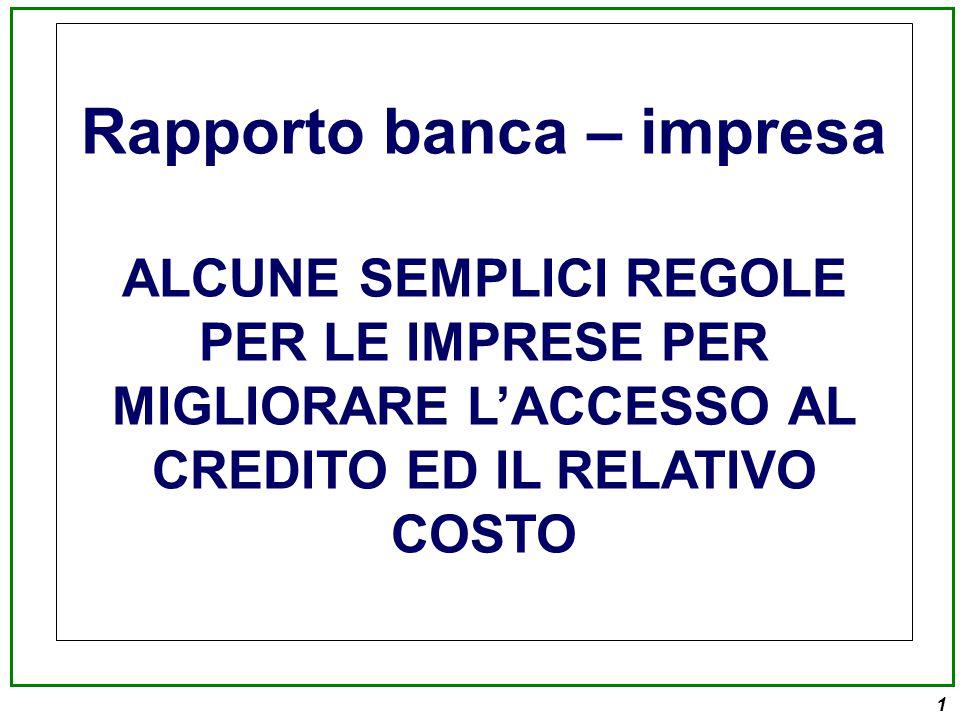 Rapporto banca – impresa