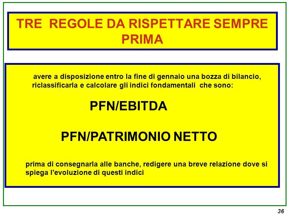 TRE REGOLE DA RISPETTARE SEMPRE PRIMA