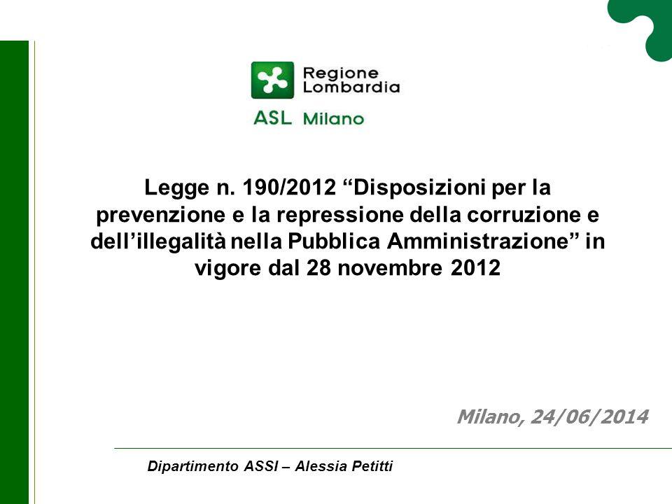 Dipartimento ASSI – Alessia Petitti