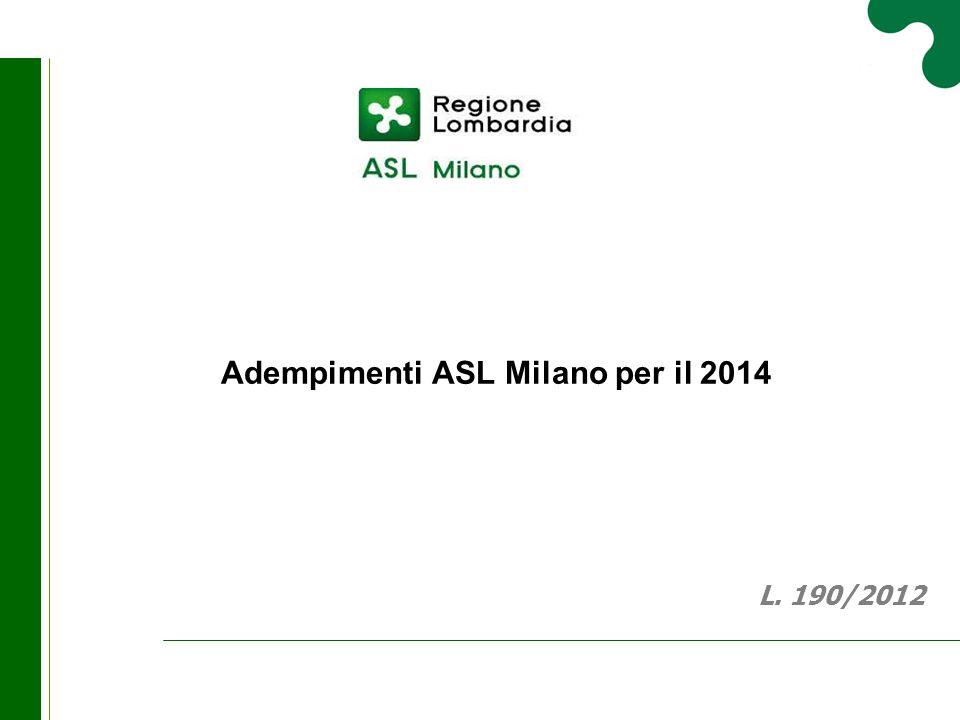 Adempimenti ASL Milano per il 2014