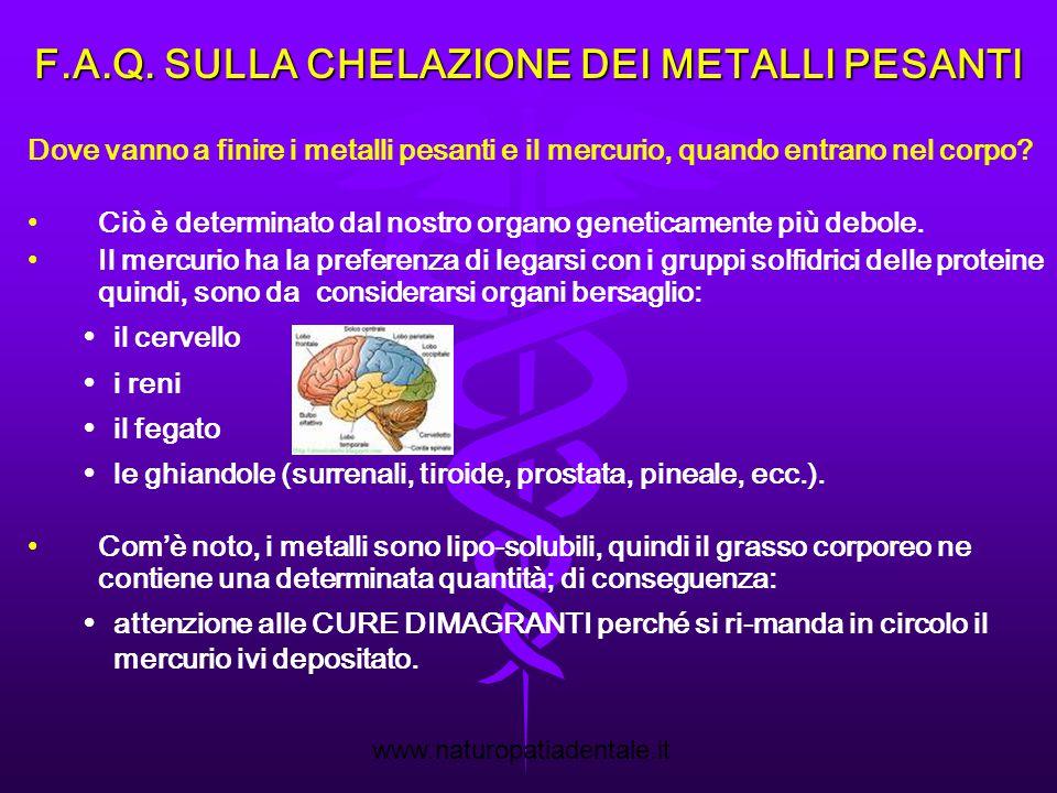 F.A.Q. SULLA CHELAZIONE DEI METALLI PESANTI