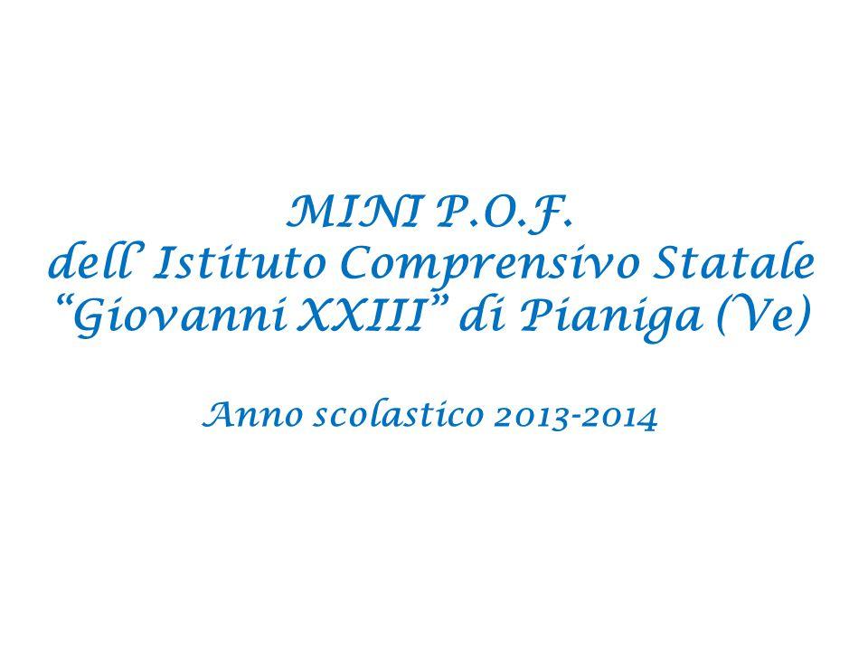 dell' Istituto Comprensivo Statale Giovanni XXIII di Pianiga (Ve)