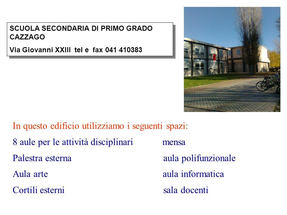 In questo edificio utilizziamo i seguenti spazi: