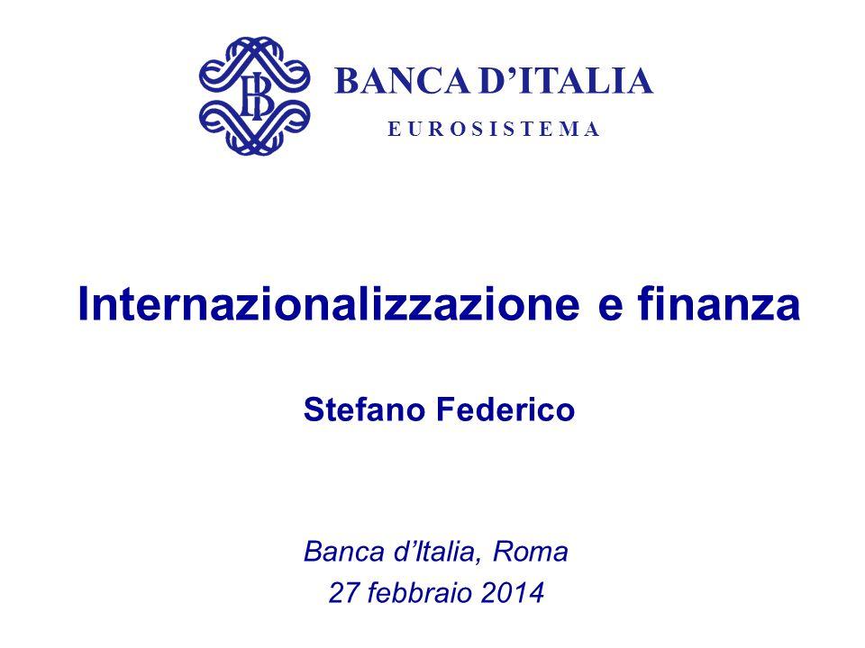 Internazionalizzazione e finanza Stefano Federico