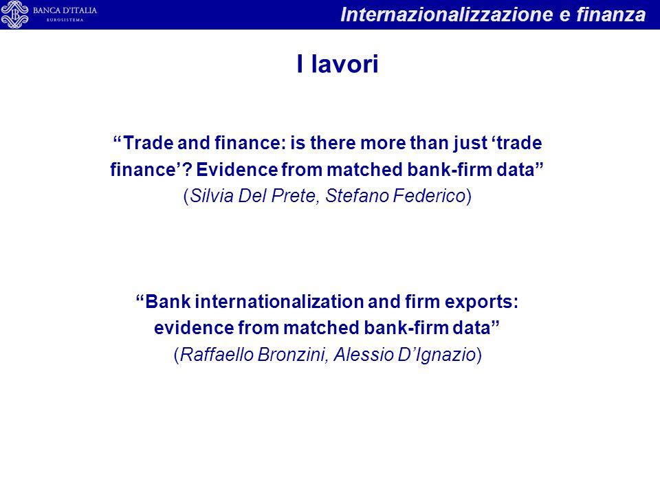 I lavori Internazionalizzazione e finanza