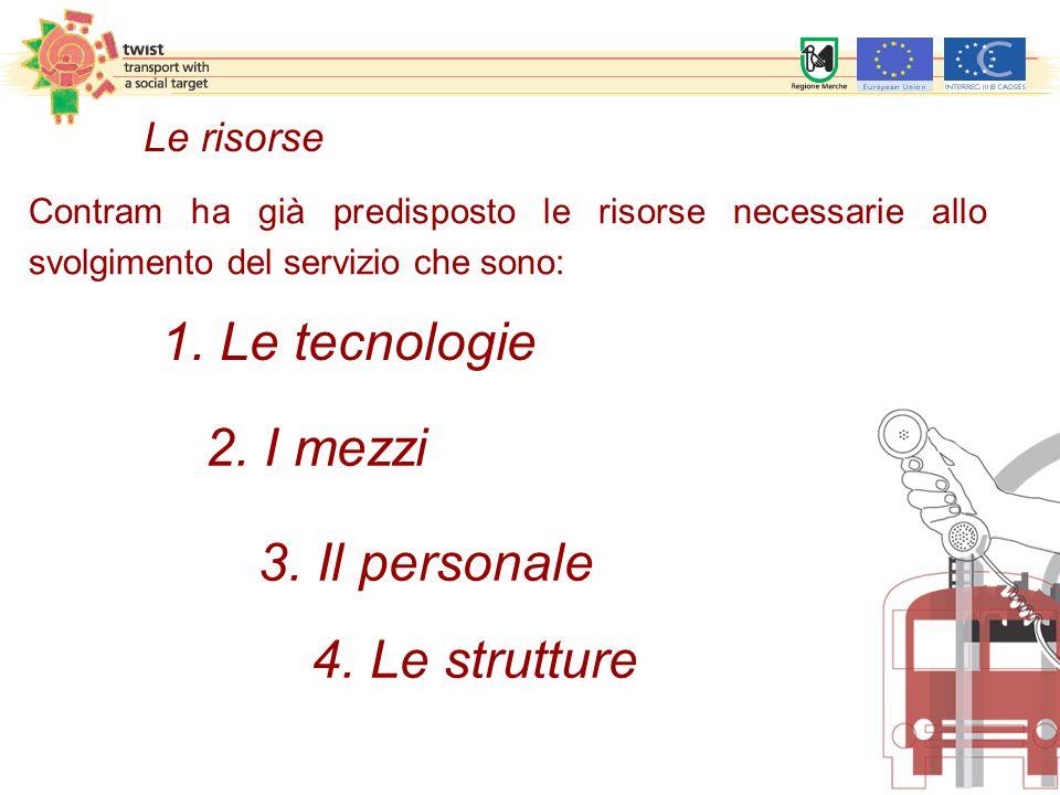 1. Le tecnologie 2. I mezzi 3. Il personale 4. Le strutture Le risorse