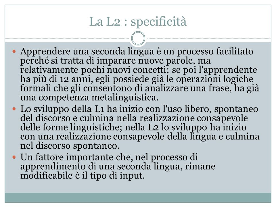 La L2 : specificità
