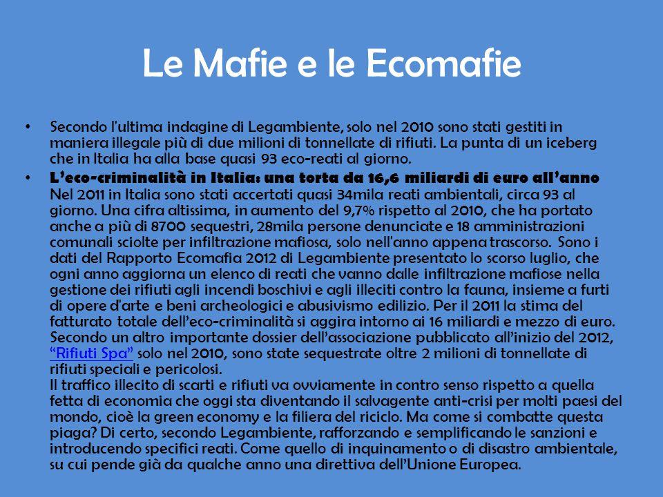 Le Mafie e le Ecomafie